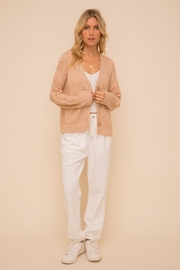 Hem and Thread Textured Sweater Cardigan - Side cropped