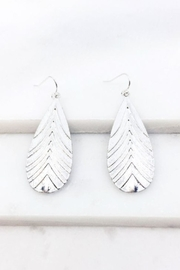 AL Boutique Textured Teardrop Earrings - Product Mini Image