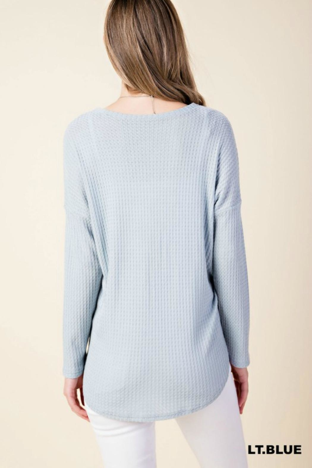 Kori Textured Tie-Front Shirt - Side Cropped Image