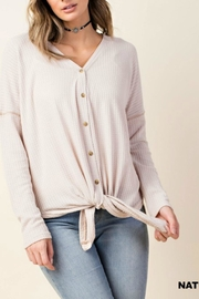 Kori Textured Tie-Front Shirt - Front cropped