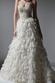 Sottero and Midgley Textured Tulle Skirt - Front cropped