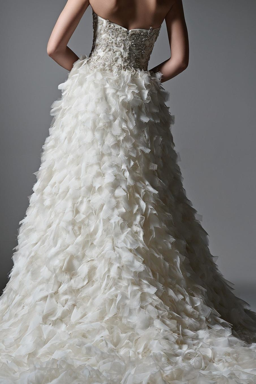 Sottero and Midgley Textured Tulle Skirt - Side Cropped Image