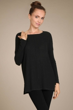 M. Rena Textured Tunic Sweater - Alternate List Image