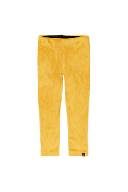 Deux Par Deux Textured Velvet Leggings - Yellow - Product Mini Image