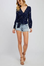Gentle Fawn Textured Wrap Top - Product Mini Image