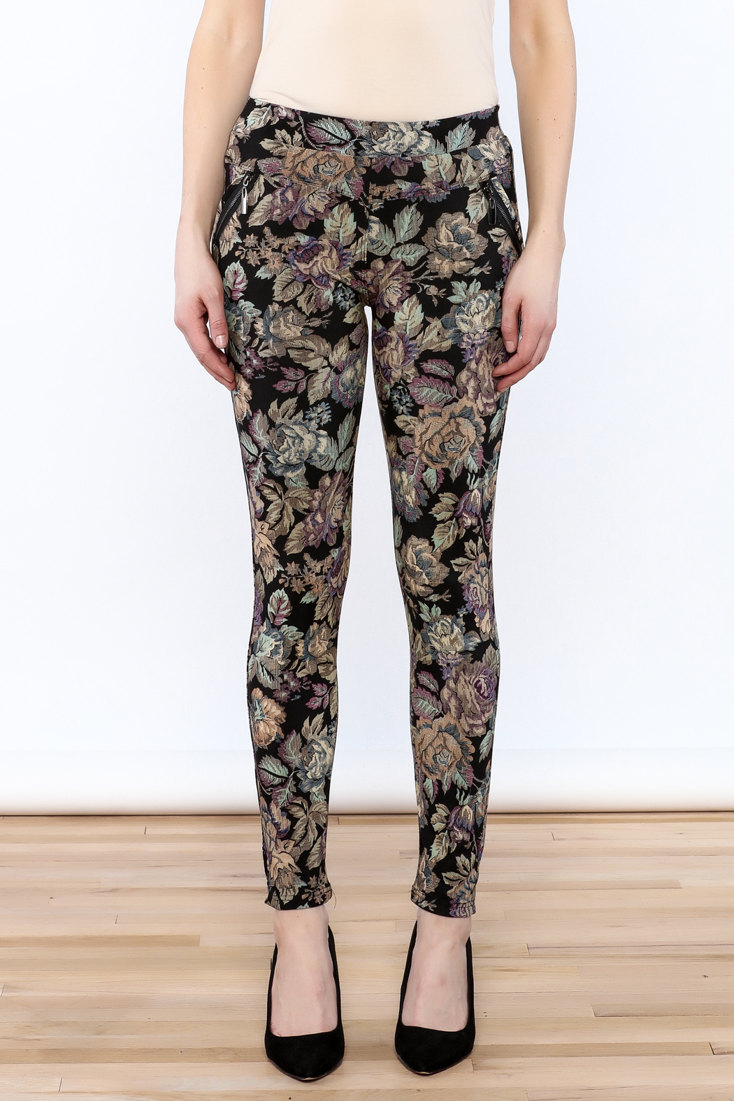 Floral Leggings in Black by Beach Riot from Carbon I'm 5'5