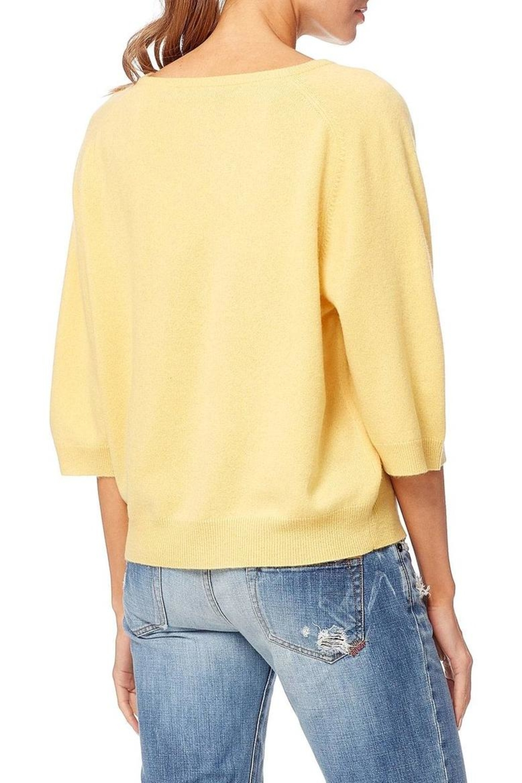 360 Cashmere Thalia Buttercup Cashmere - Side Cropped Image