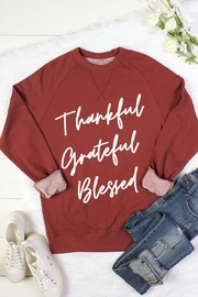 bella closet THANKFUL GREATFUL BLESSED - Front cropped