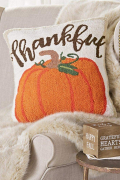 MudPie Thankful Hooked Pillow - Alternate List Image