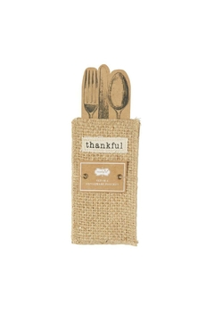 Mud Pie Gift Thankful Silverware Pouches - Product List Image