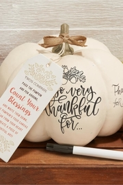 Two's Company Thankful Writable Pumpkin - Product Mini Image