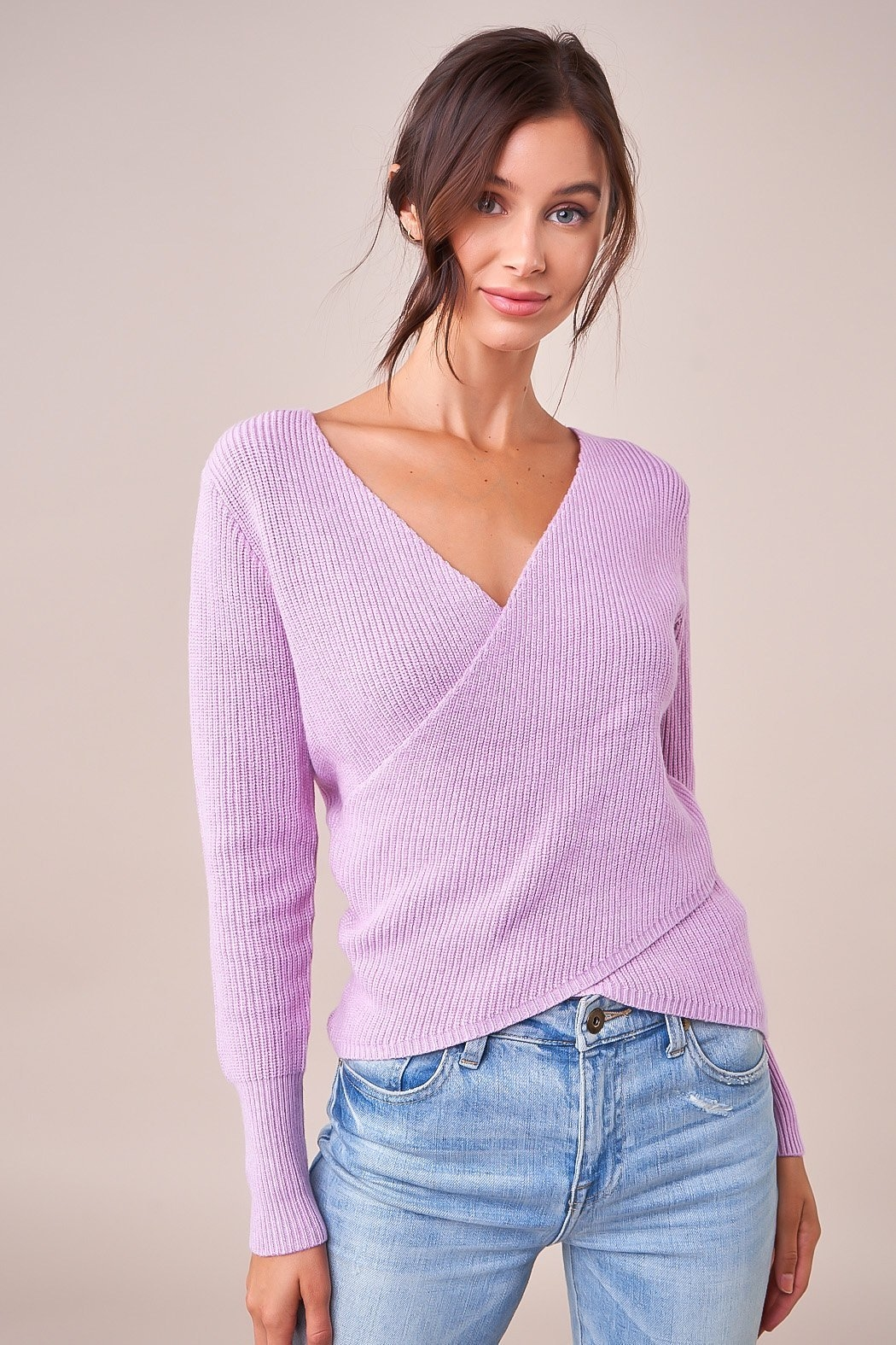 Sugarlips That's A Wrap Sweater - Back Cropped Image