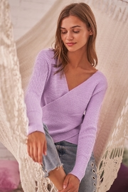 Sugarlips That's A Wrap Sweater - Front cropped