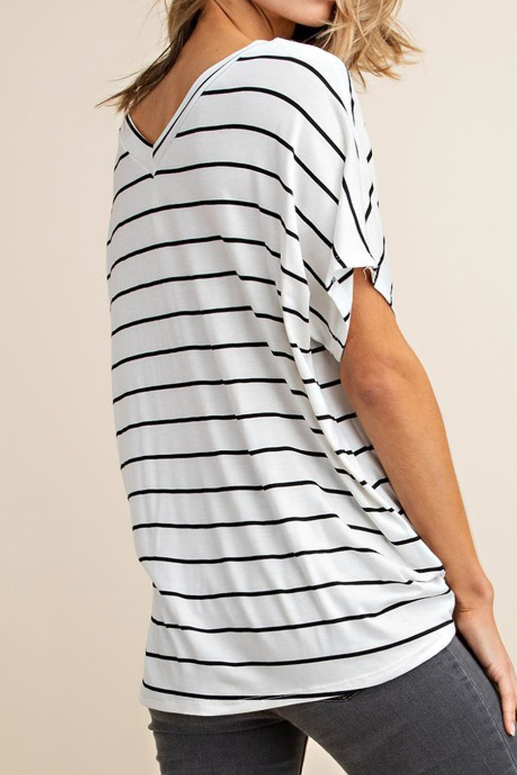 Mittoshop The Alex Striped-Tee - Back Cropped Image
