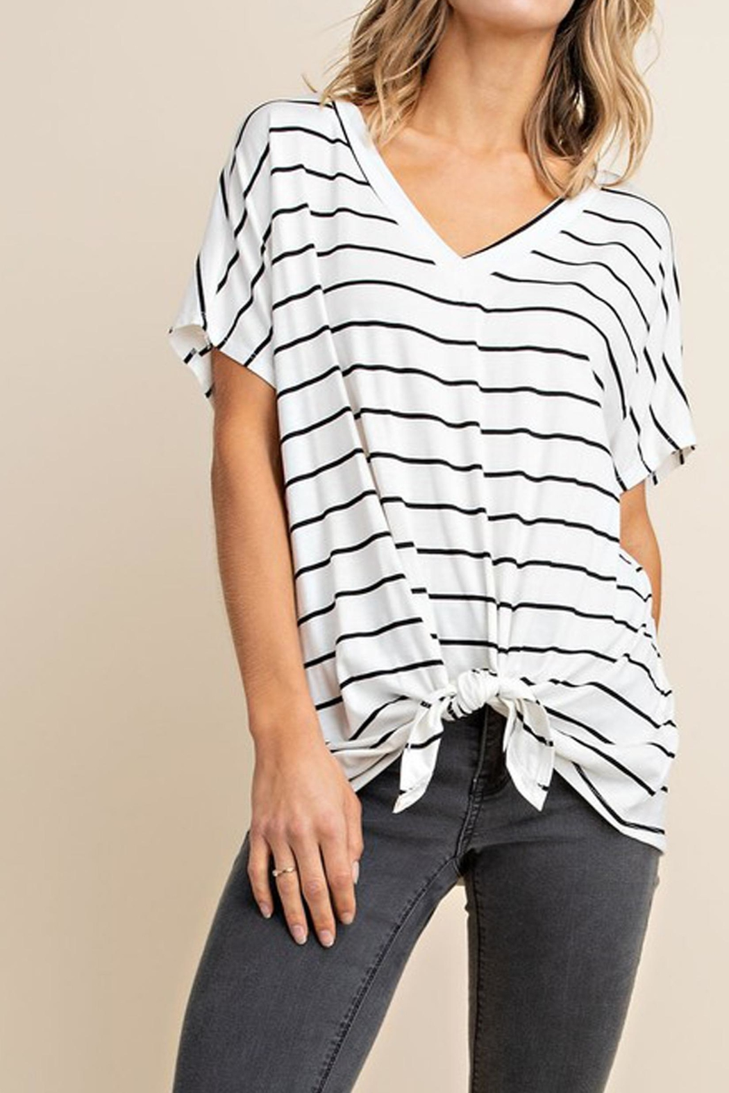 Mittoshop The Alex Striped-Tee - Front Full Image