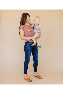 Chewable Charm The Austin - Mustard Yellow Teething Necklace - Alternate List Image