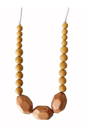 Chewable Charm The Austin - Mustard Yellow Teething Necklace - Product Mini Image