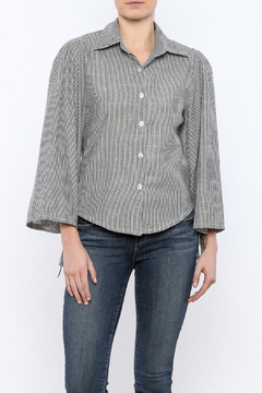 Shoptiques Product: Striped Tied Sleeve Top