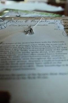 folklore & fairytales The book worm storybook necklace - Alternate List Image