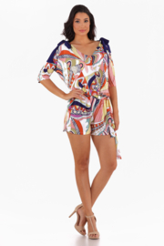 VKY & CO The Bow Romper - Product Mini Image