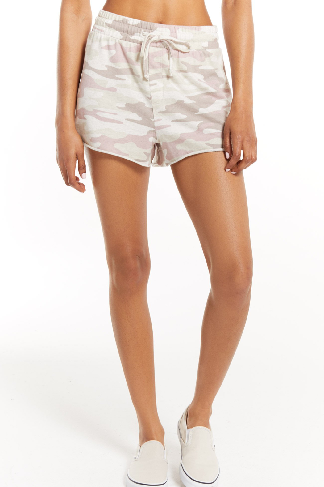 z supply The Camo Sporty Short - Front Cropped Image