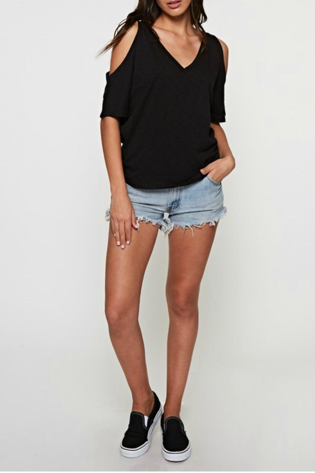 Love Stitch The Casual Cold-Shoulder - Front Cropped Image