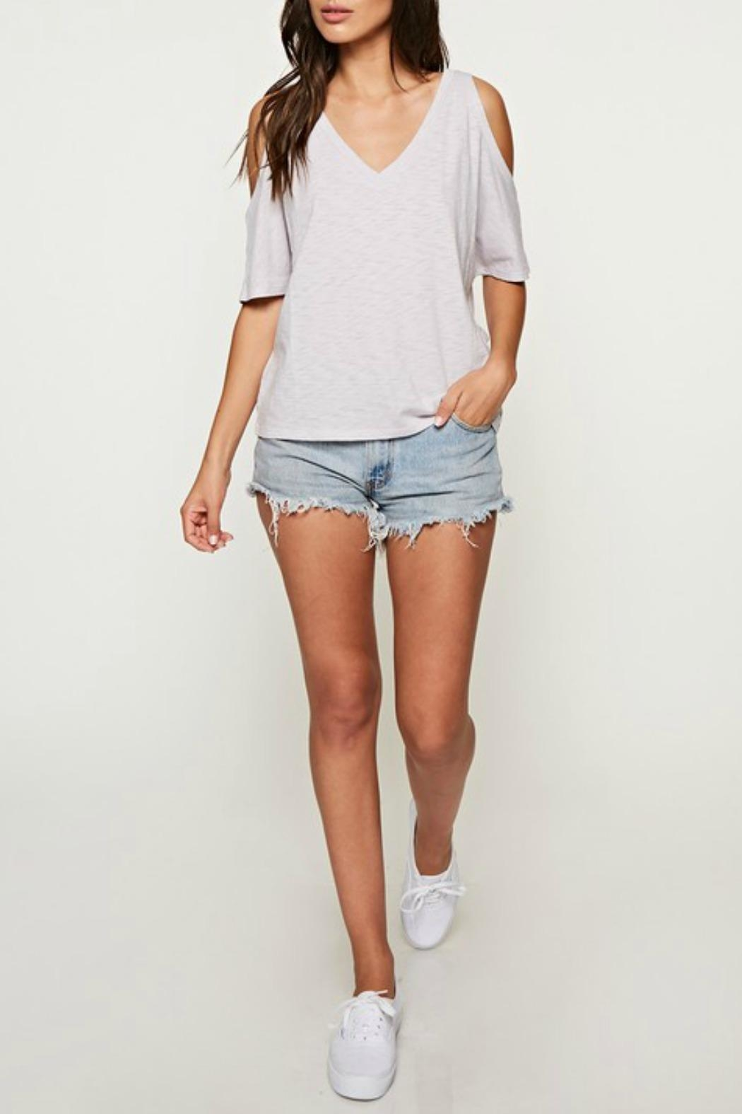 Love Stitch The Casual Cold-Shoulder - Back Cropped Image