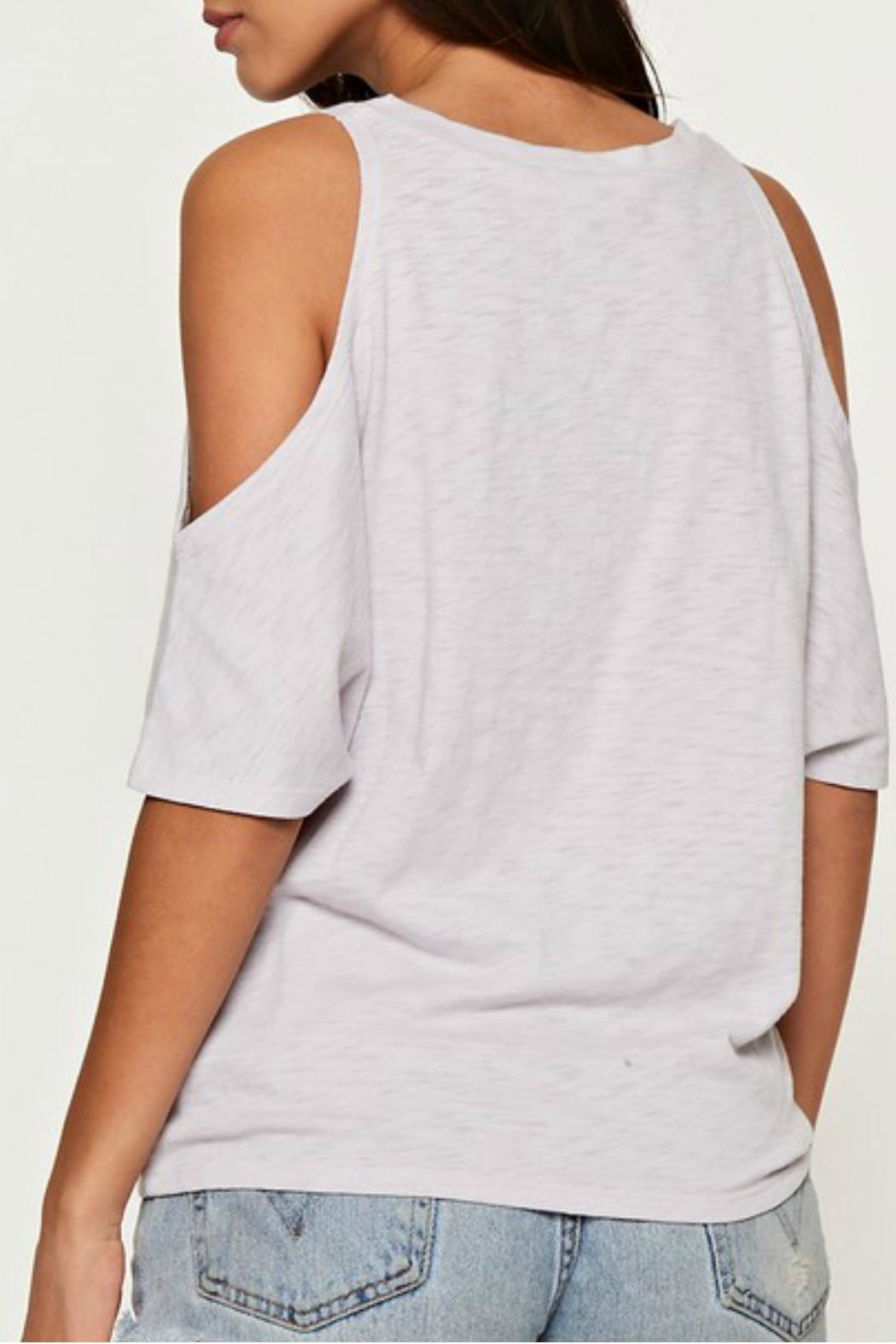Love Stitch The Casual Cold-Shoulder - Front Full Image