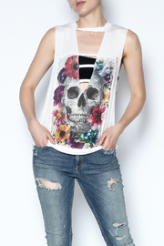 The Classic Floral Skull Tee - Product Mini Image