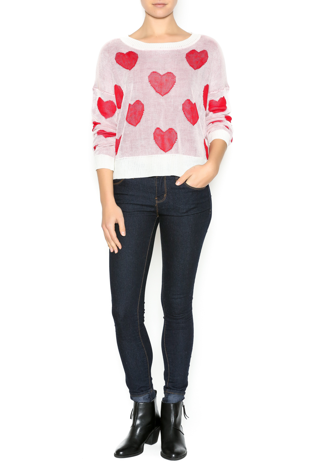 The Classic I Heart You Sweater - Front Full Image