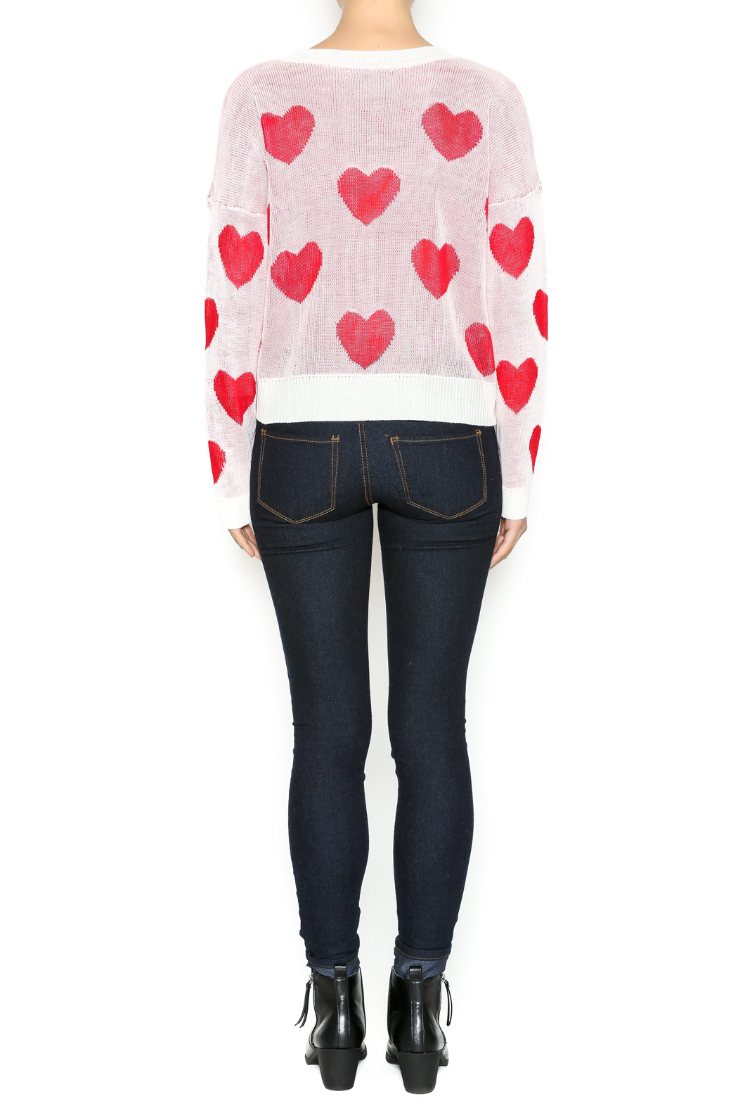 The Classic I Heart You Sweater - Side Cropped Image