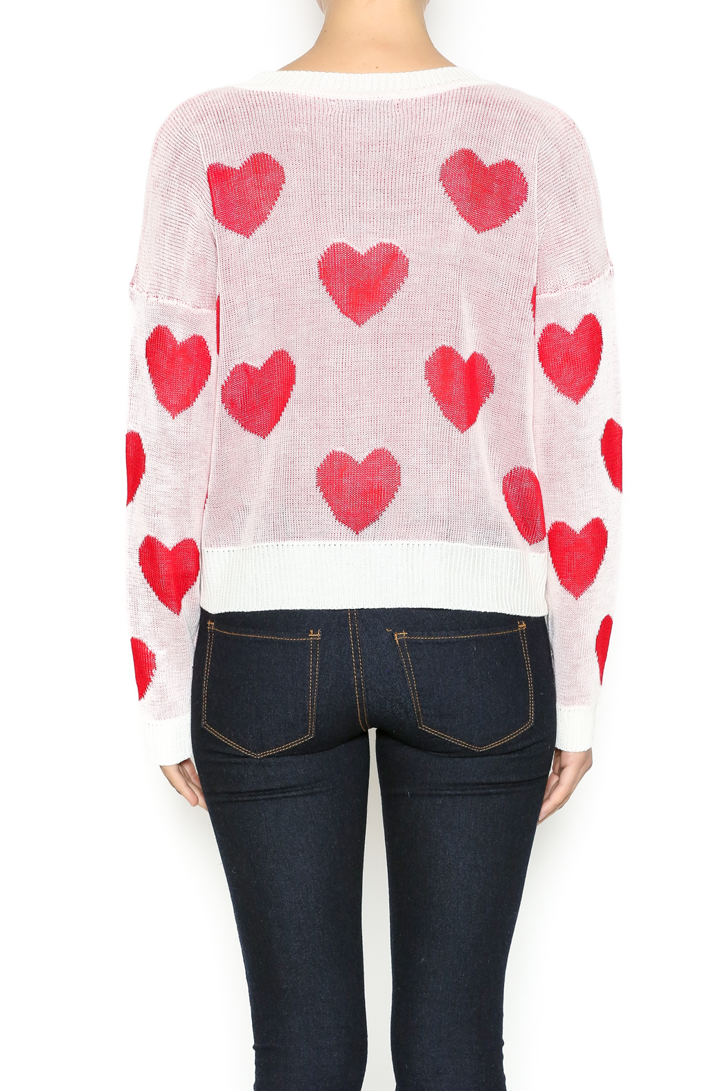 The Classic I Heart You Sweater - Back Cropped Image
