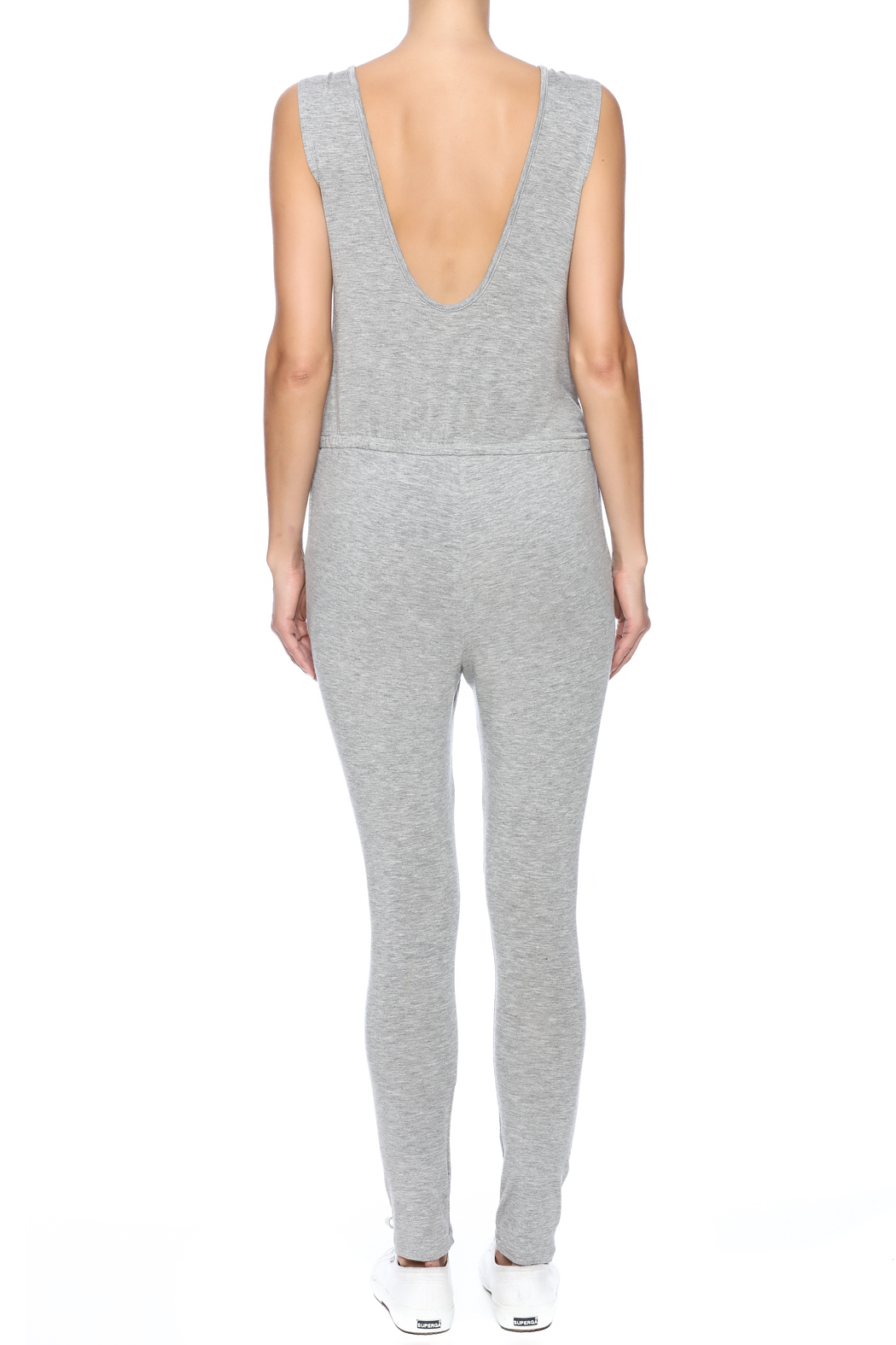 The Classic Knee Slit Jumpsuit - Back Cropped Image