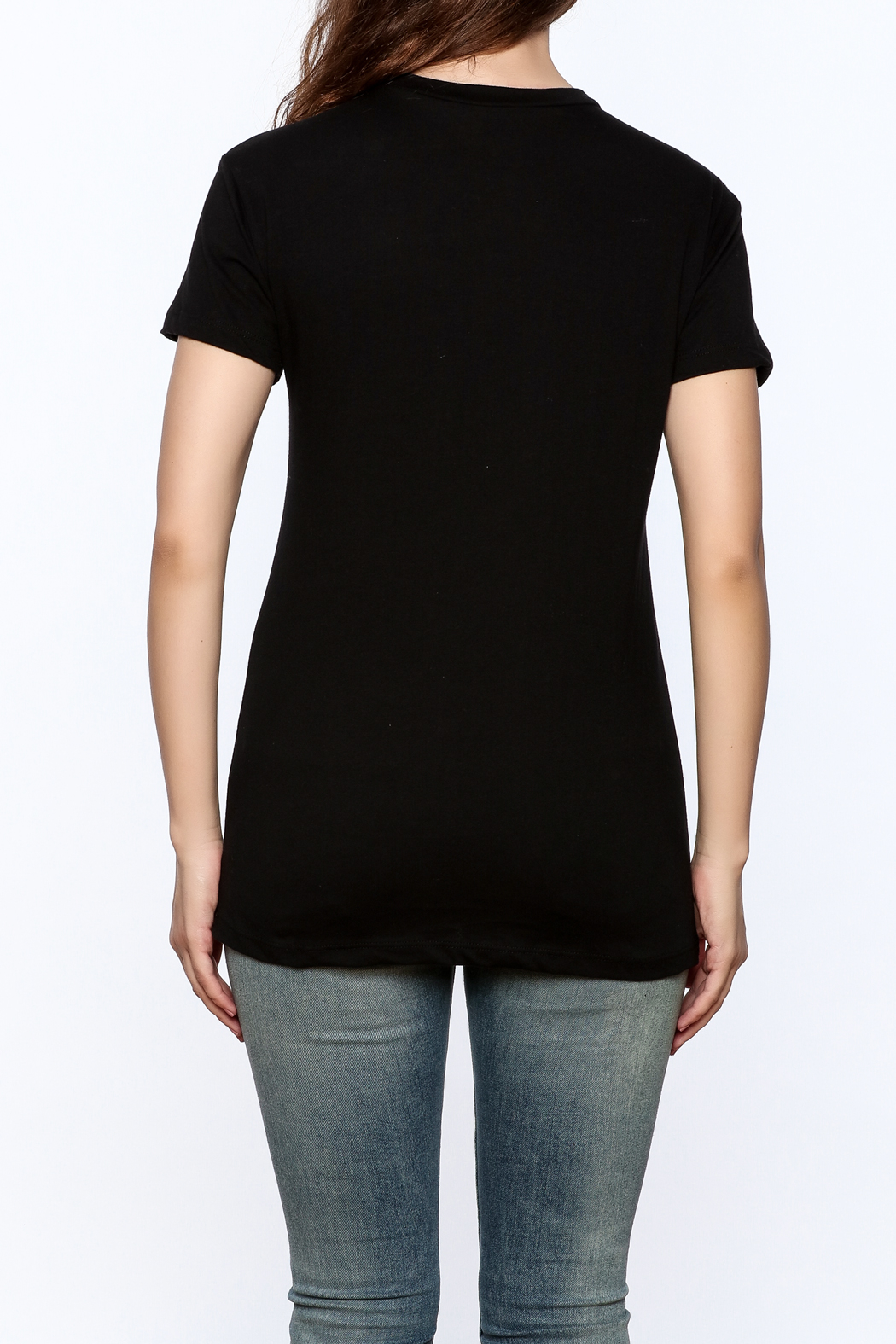 The Classic Rose Graphic Tee - Back Cropped Image