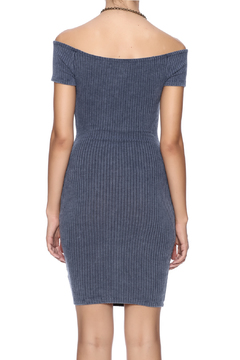 The Classic Ribbed Off Shoulder Dress - Alternate List Image