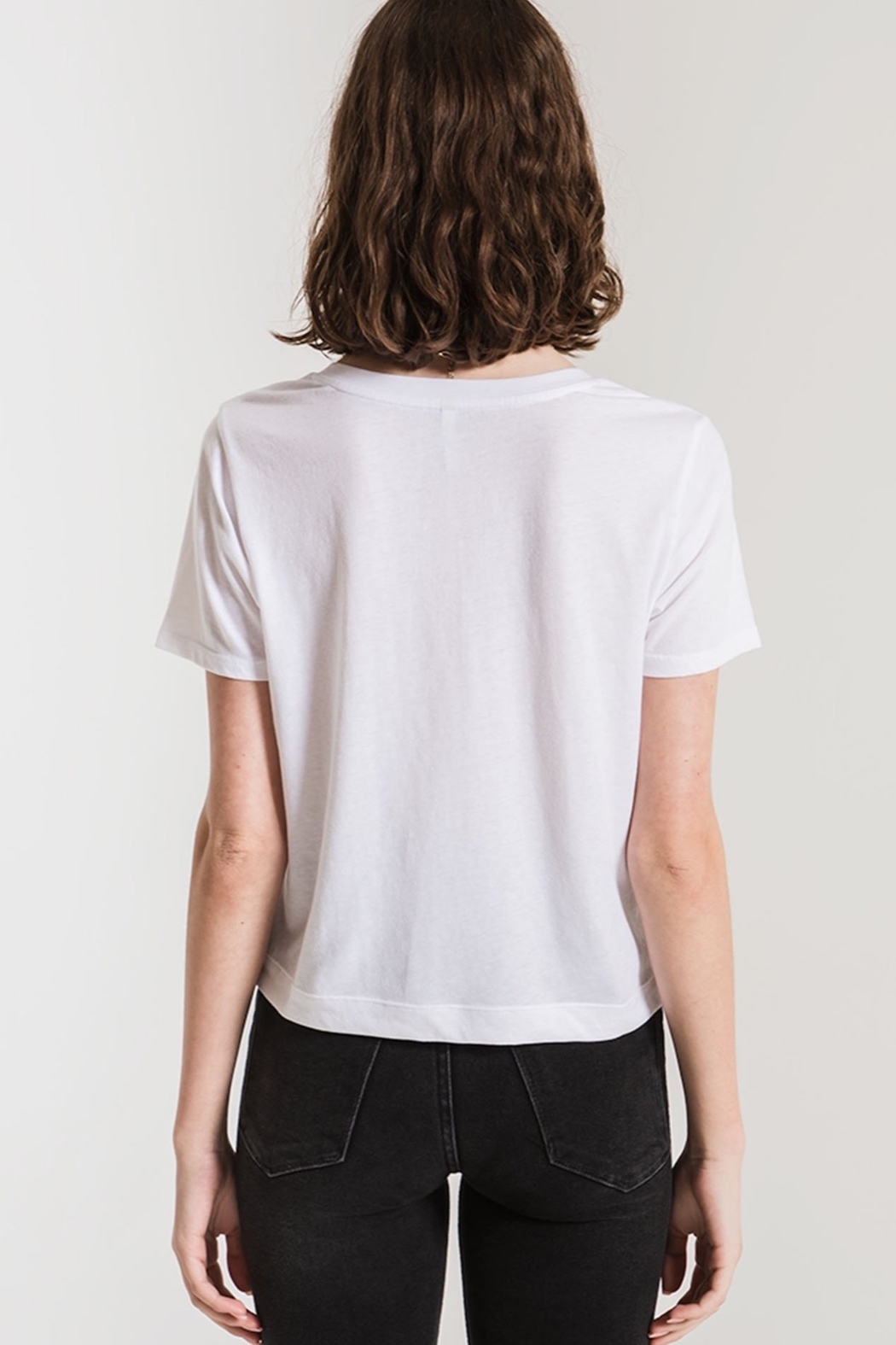 z supply The Classic Skimmer Crop Tee - Front Full Image