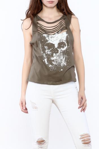 Shoptiques Product: Olive Graphic Tee - main