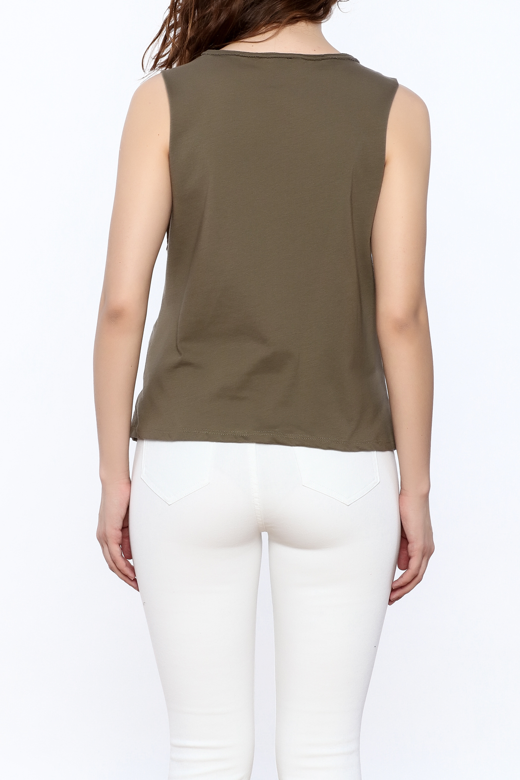 The Classic Olive Graphic Tee - Back Cropped Image