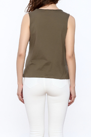 The Classic Olive Graphic Tee - Back cropped