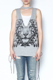The Classic Sleeveless Choker Tee - Front full body