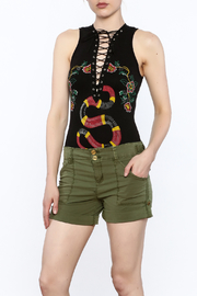 The Classic Black Snake Embroidered Tee - Product Mini Image