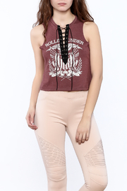 Shoptiques Product: Lace-Up Graphic Tee