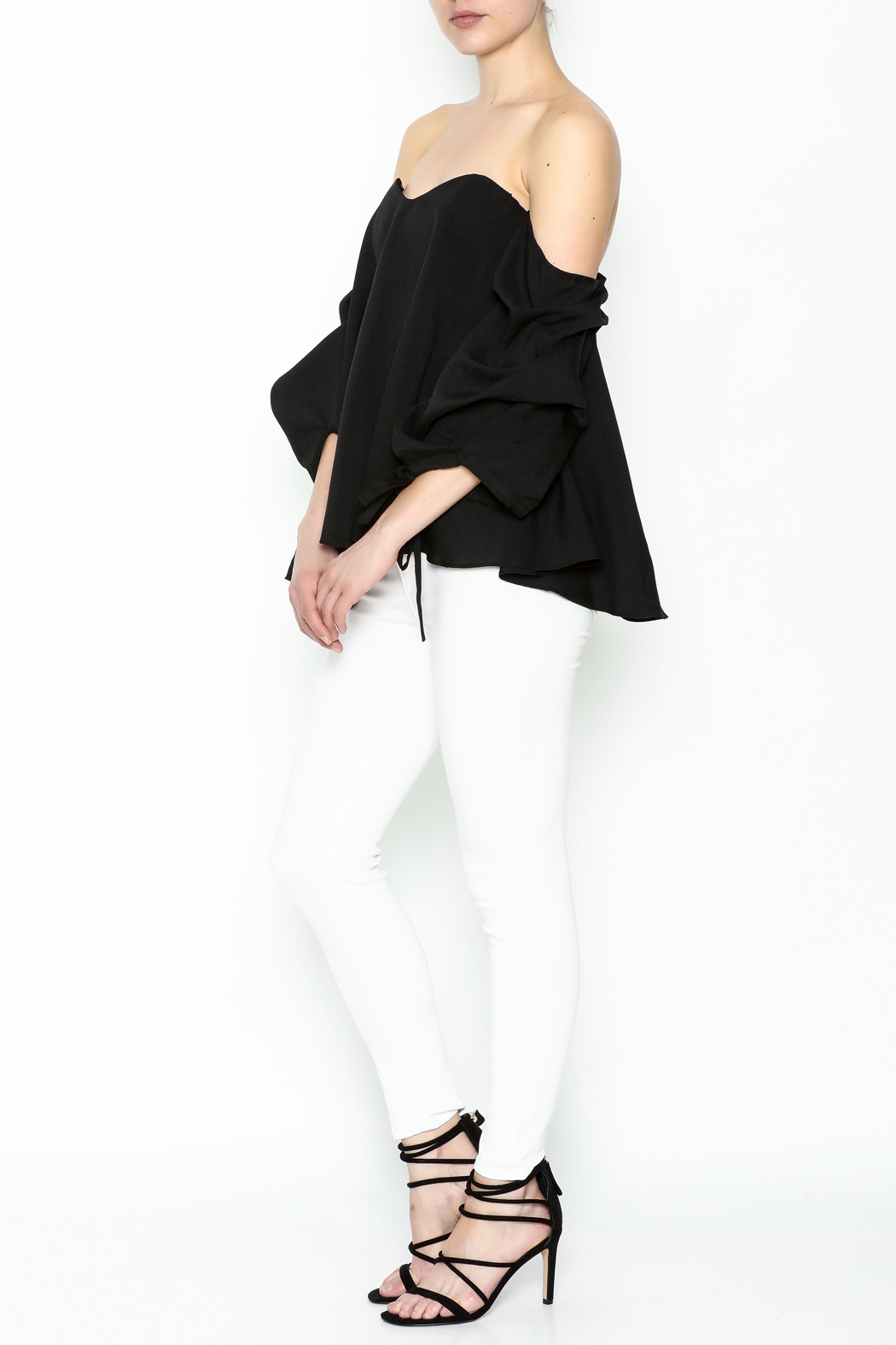 The Clothing Co Bubble Sleeve Blouse - Side Cropped Image