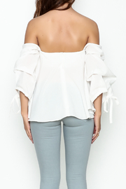 The Clothing Co Bubble Sleeve Blouse - Back cropped