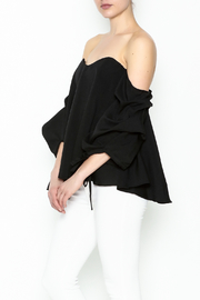 The Clothing Co Bubble Sleeve Blouse - Front cropped