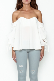 The Clothing Co Bubble Sleeve Blouse - Front full body