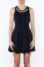 The Clothing Co Navy Caroline Dress - Side cropped