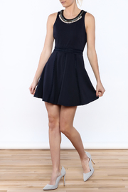 The Clothing Co Navy Caroline Dress - Front full body
