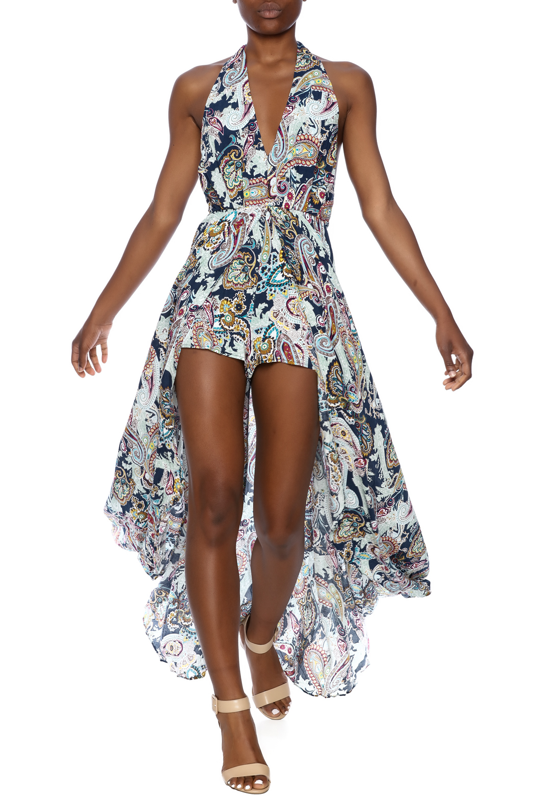 The Clothing Co Print Maxi Romper From New York City By ...