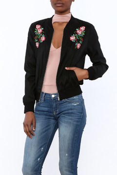 The Clothing Co Rose Embroidered Jacket - Product List Image